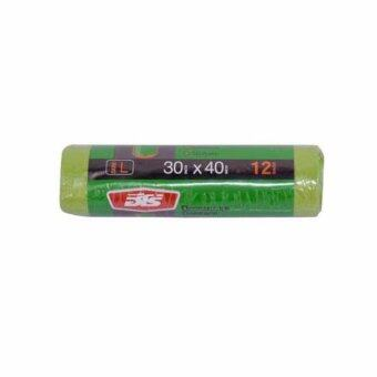 AN&P SHOP ถุงใส่ขยะแบบม้วน ขนาด 30x40 นิ้ว สีเขียว แพ็ค 3 ชิ้น