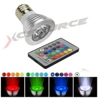 XCSource หลอดไฟ 5W E27 LED Spot RGB Light Lamp 16 Color Change พร้อมรีโมทคอนโทรล