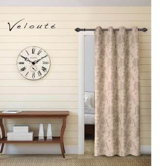 Veloute ผ้าม่านประตูทอลายแจ็คการ์ด รุ่น Peony - Cream