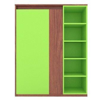 Besta ตู้อเนกประสงค์ Lotte - สีไม้สัก/สีเขียว