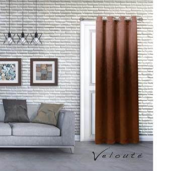 Veloute ผ้าม่านประตูกันแสงยูวี รุ่น Dimout ( Brown)