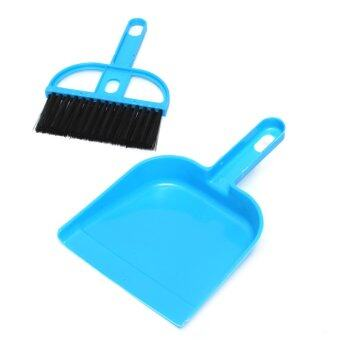 Harga Autoleader Mini Plastic Dustpan And Brush Set Soft Cleaning Sweeper Hand Kitchen Dust Pan Blue (Intl)