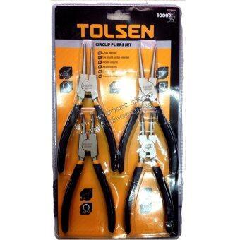 TOLSEN คีมหนีบ-ถ่างแหวน 4 ตัว/ชุด