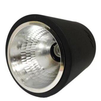 โคมไฟดาวน์ไลท์ติดลอย ทรงกลม 1xE27 สีดำ 6 นิ้ว