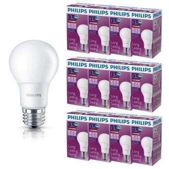 Philips หลอด LED BULB 13 วัตต์ ขั้ว E27 แสงวอร์มไวท์ (12 ดวง)