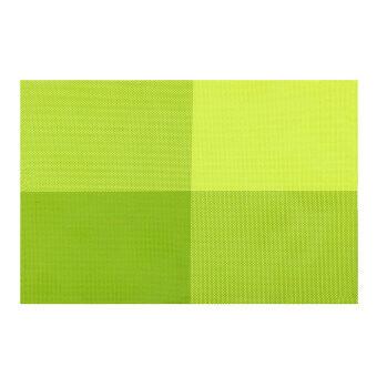 ชุด 4แผ่นรองฉนวนพีวีซีลายวินเทจแผ่นรองแก้วเบาะโต๊ะกินข้าว (สีเขียว)