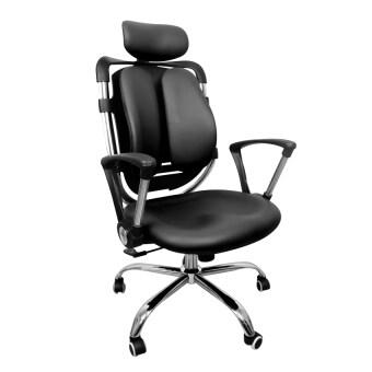 Replica Shop เก้าอี้สำนักงานเพื่อสุขภาพ เบาะหนัง PU (สีดำ)