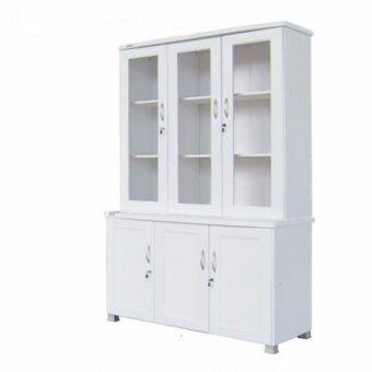 RF Furniture ตู้โชว์FL120A2 2 ท่อนบน+ล่างแยกชิ้นได้ ขนาด 120 cm ( สีขาว )