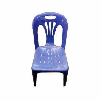 DSB Decor เก้าอี้พลาสติก มีพนักพิง รุ่น SR (สีน้ำเงิน)