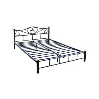 DAXTON เตียงเหล็ก Epoxy ขนาด 6 ฟุต รุ่น ICON2 - 6 - Epoxy Blackเป็นเตียงขนาดมาตฐาน