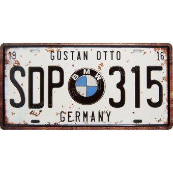 ป้ายสังกะสีวินเทจ BMW SDP-315, Germany (ปั๊มนูน)