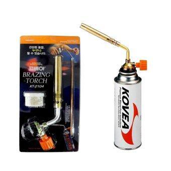 KOVEA หัวเชื่อมประสาน-พ่นไฟ แบบพกพา KT-2104 สำหรับใช้กับแก๊สกระป๋อง (ไม่รวมแก๊สกระป๋อง)