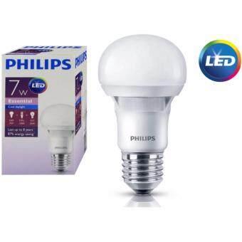 Philips หลอดไฟ LED Bulb 7W Essential Cool Daylight แสงขาวเดย์ไลท์ ขั้วเกลียว E27