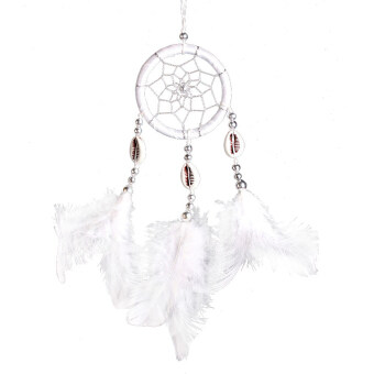 Harga Monocyclic Teeth Dream Catcher Wall Hanging Home Car Decor (White) - intl