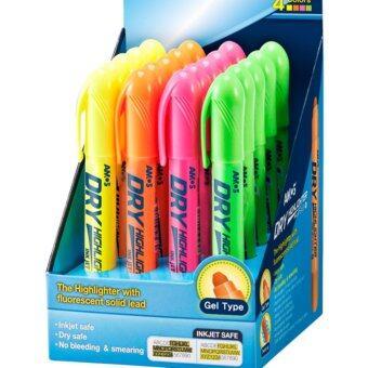 ปากกาเน้นข้อความ Amos Dry Highlighter 4สี x สีละ5ด้าม