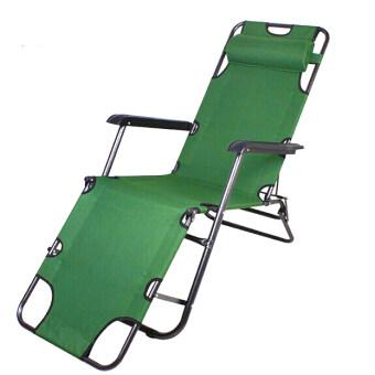MaxDe เก้าอี้พักผ่อนปรับเอนนอนขนาดยาวพิเศษ 178 cm พร้อมหมอนรองคอ (สีเขียว)