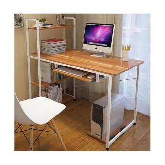 Asia โต๊ะคอมพิวเตอร์ ขนาด 1.0 เมตร รุ่นมีต่อข้าง Loft Style โครงขาว