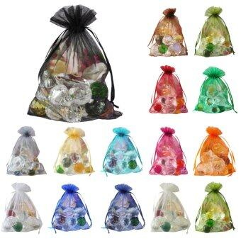 Harga 100 pcs Sheer Organza Wedding Party Favor Decoration Gift Candy Bags 13*18