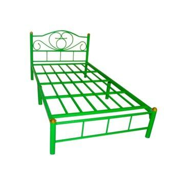 ISO เตียงเหล็กอย่างดี 3.5ฟุต รุ่น LOTUS ขา2นิ้ว