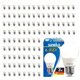 Saneluz หลอดไฟ LED Bulb SZ 3W หลอดปิงปอง (Daylight แสงขาว) 100 หลอด