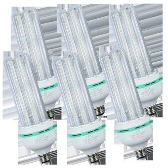 LEDANDLAMP หลอดไฟ LED CORN LIGHT ขั้ว E27 ขนาด 24w. ( แสงสีเหลือง Warm White แพ็ค 6 หลอด )