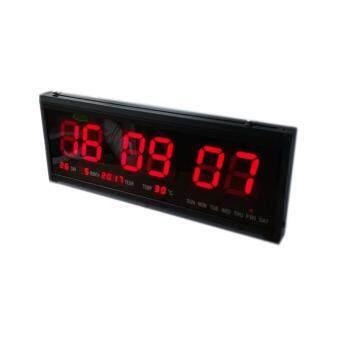 นาฬิกาดิจิตอนาฬิกาติดผนัง LED Number Clock ขนาด 48 x18.2 x4.8 ซม.