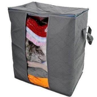 Good Deal กล่องผ้าอเนกประสงค์ทรงสี่เหลี่ยมสูงมีซิป