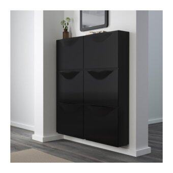 TRONES ตู้เก็บรองเท้า/3ชิ้น Shoe cabinet/storage 51*39 cm (ดำ)