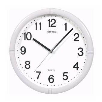RHYTHM Japan นาฬิกาแขวนพลาสติก เครื่องเดินเรียบไร้เสียงรบกวน ขนาด 11 นิ้ว รุ่น CMG434NR03