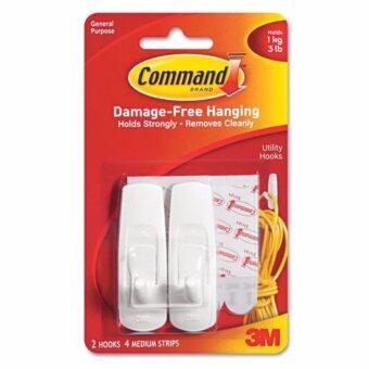 คอมมานด์ 3M ตะขออเนกประสงค์ขนาดกลาง Command MEDIUM HOOKS 17001
