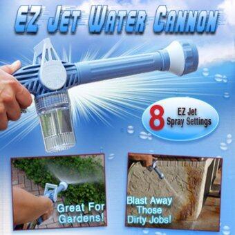 ปืนฉีดน้ำ/หัวฉีดน้ำอเนกประสงค์ (สีฟ้า) ปรับระดับ 8 แรงดัน EZ JET WATER CANNON