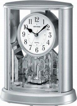 RHYTHM นาฬิกาตั้งโต๊ะ รุ่น 4SG724WR19 - Silver