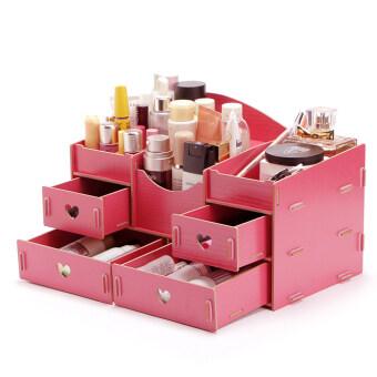 ชั้นวางเครื่องสำอาง DIY Storage Box (สีโอรส)