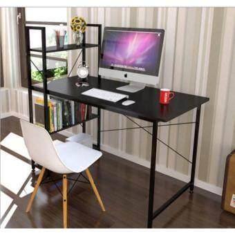 โต๊ะLoft Style ขนาด 1.2 เมตร รุ่น BP216 โครงดำ-โอ๊ค