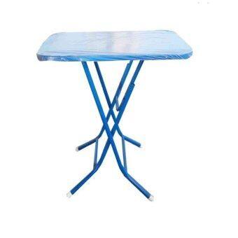 Asia โต๊ะพับหน้าเหล็ก3ฟุต T24 (สีน้ำเงิน)
