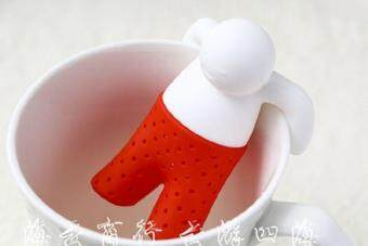 Harga Cartoon Character Tea Leaf Strainer Silicon Filter Rubber Tea Infuser (colour:Red) - intl