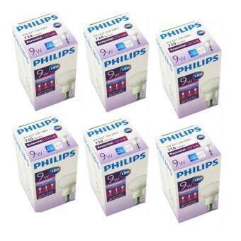 Philips หลอดไฟ LED Bulb 9W Essential Cool Daylight แสงขาวเดย์ไลท์ ขั้วเกลียว E27 (6 หลอด )