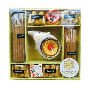 Aromdee premuim incense : ธูปหอมอโรมา กำยานหอม กลิ่นมะลิ บรรจุในกล่องกระดาษสา สวยงาม