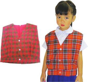Thaiadapp เสื้อกั๊กลายสก็อตมีซับใน