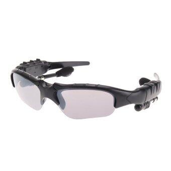 ไร้สายบลูทูธ 4.0 แว่นตากันแดดสเตอริโอมิวสิกแฮนด์ฟรีหูฟัง (สีดำ)