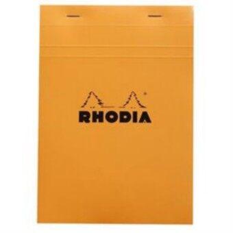 Rhodia สมุดโน๊ตแบบฉีกได้ รุ่น Bloc Rhodia No.16 A5 148x210มม. เนื้อกระดาษ 80g กระดาษสีขาว มีเส้นตาราง5x5มม. ปกสีส้ม