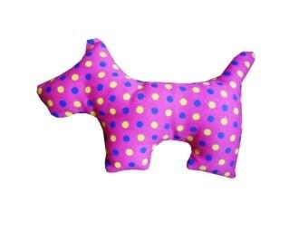 Dogacat ของเล่นสุนัข ของเล่นหมา ของเล่นแมว ตุ๊กตาผ้าสุนัข - สีบานเย็น ลายจุด