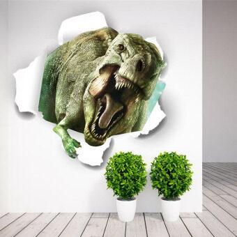 จิตกรรมฝาผนังติดวอลล์เปเปอร์ 3D สติ๊กเกอร์ติดผนังไดโนเสาร์ของจูราสสิกปาร์กจะผ่านการตกแต่งบ้าน zooyoo1449 เด็กจิตรกรรมฝาหนังห้องศิลปะสัตว์สติ๊กเกอร์ 4.5