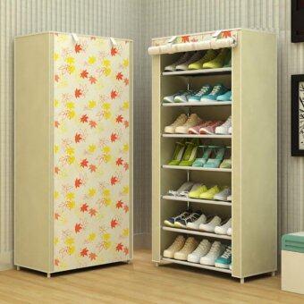 DIY ตู้รองเท้า 7 ชั้นเก็บได้ 21 คู่(ทรงสูงประหยัดพื้นที่)