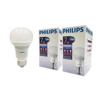 Philips หลอด Essential LED bulb 7 วัตต์ ขั้ว E27 ฟิลิปส์ แสงเดย์ไลท์ (2 ดวง)