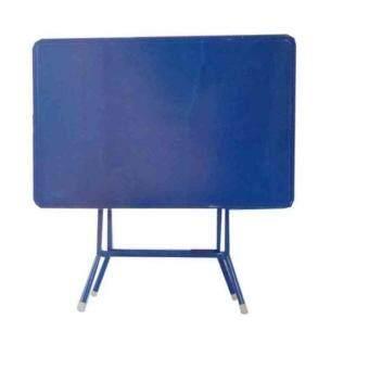 โต๊ะพับหน้าเหล็ก3ฟุต T24 (สีน้ำเงิน)