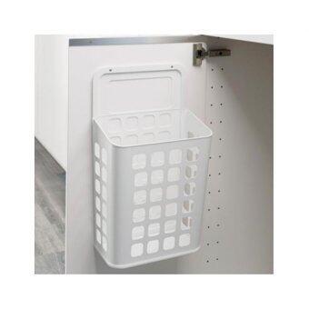 ถังขยะติดผนังตู้ สีขาว HomeSmile