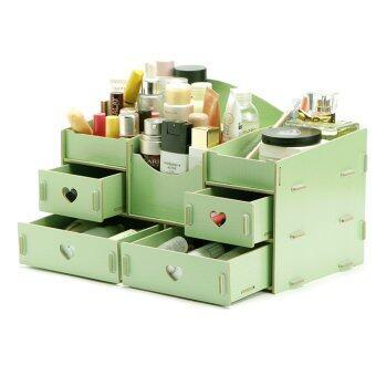 ชั้นวางเครื่องสำอาง DIY Storage Box (เขียว)