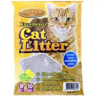 Cattycat ทรายภูเขาไฟ กลิ่นมะนาว 10L ( 2 units )