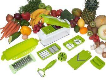 Like One Step precision cutting อุปกรณ์เครื่องครัว ชุดหั่นผักและผลไม้ เอนกประสงค์ (สีเขียว)